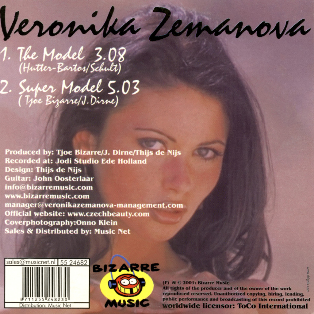 The Model CD Cover (Back)