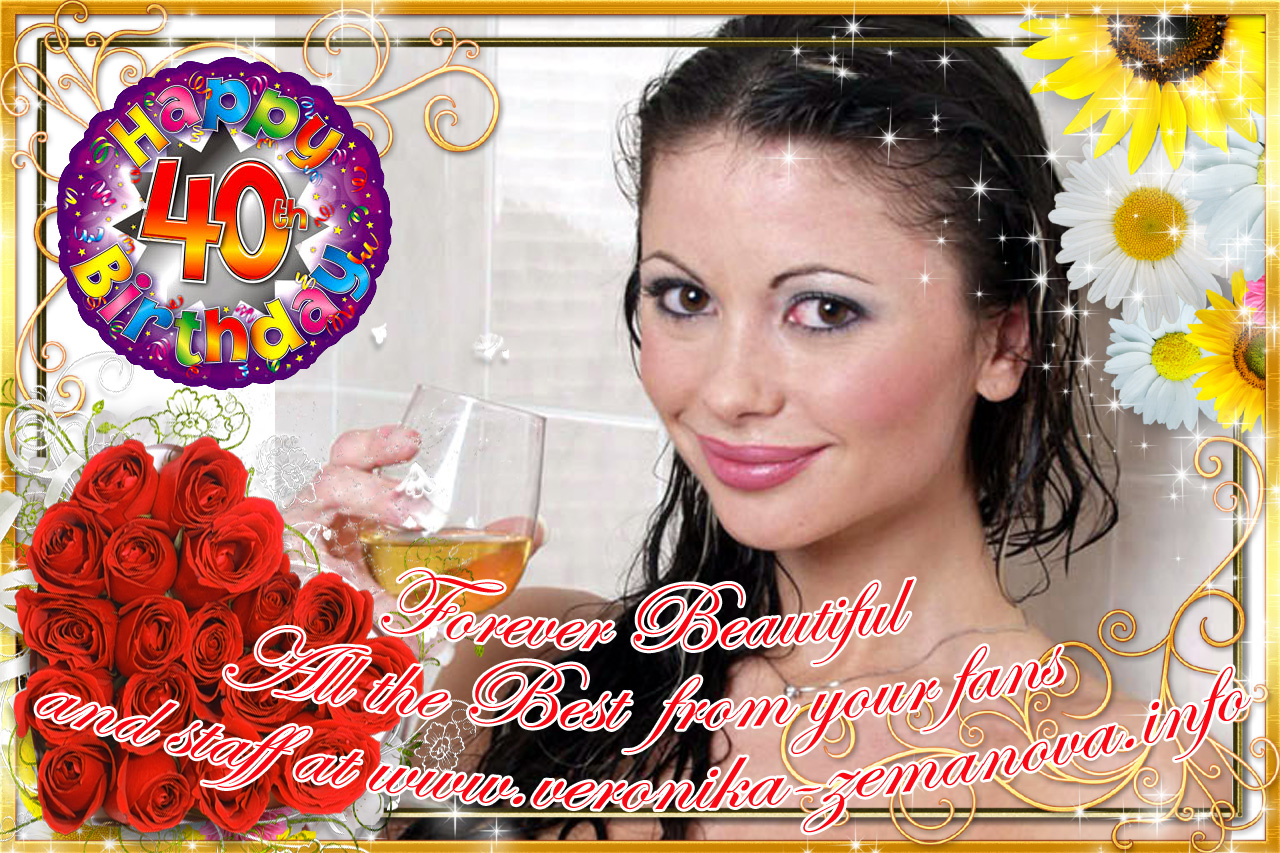 Veronika 40th Birthday Card
