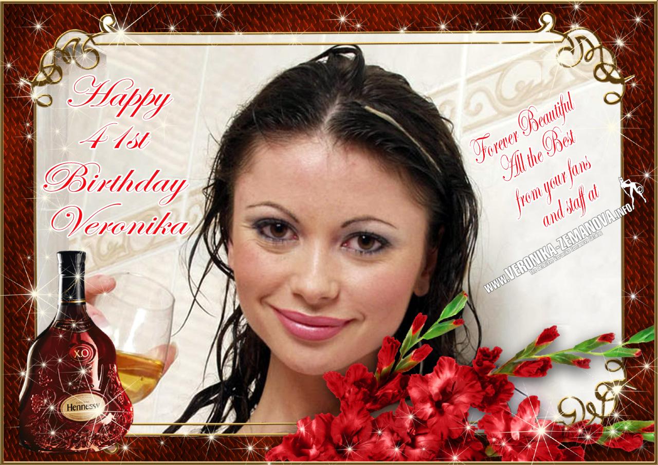 Veronika 41st Birthday Card